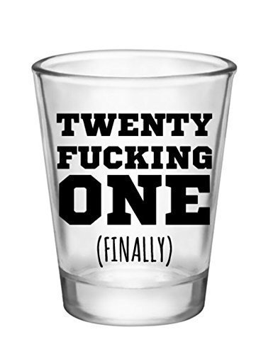 21st Birthday Shot Glass-Novelty Gifts for 21st Birthday Party Shot Glass (Cool Gifts For 21st Birthday)