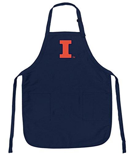 Broad Bay University of Illinois Apron Stain Release Illinois Illini Aprons