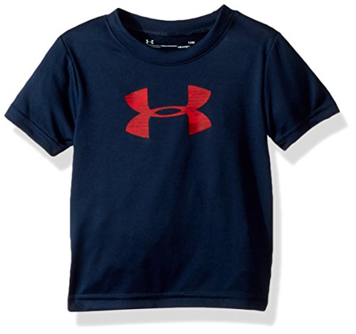 Under Armour Baby Boys Edge Camo Big Logo Short Sleeve T-Shirt, Academy, 12M - Edge Logo T-shirt