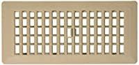 Decor Grates PL410-TA 4-Inch by 10-Inch Plastic Floor Register, Taupe