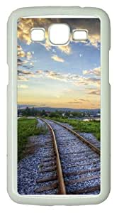 Samsung Grand 7106 Case and Cover -Railroads sunset landscapes Custom PC Hard Case Cover for Samsung Grand 2/7106 White