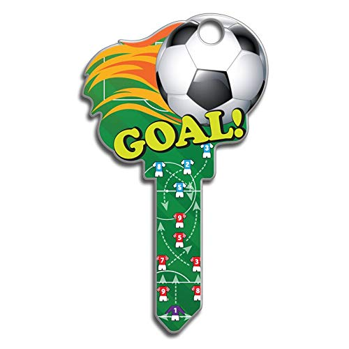 Lucky Line Key Shapes, Soccer, House Key Blank, KW1/11, 1 Key (B135K) (One Key Blank)