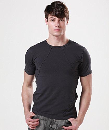 Fashion-Mart Resident Evil Leon Short Sleeve T Shirt (1 inch=2.54 cm) (Dark Grey, XXL/185cm)