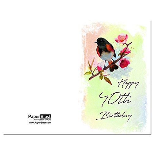 Amazon Bird Happy 40th Birthday Card With Custom Handwritten