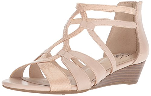 LifeStride Women's Yacht Wedge Sandal, Soft Taupe, 9.5 M US