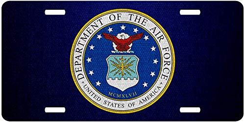 Department Seal Air Force - U.S. Department of The Air Force, Seal Custom Personalized Vanity License Plates, U.S. Air Force Front License Auto Tag, Military Car Accessories