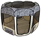 Zebra Pet Tent Exercise Pen Playpen Dog Crate XS