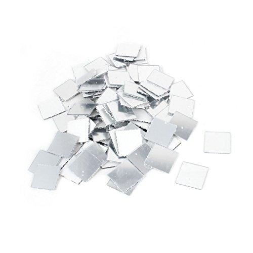 uxcell® 3D Wall Sticker Mosaic Mirror Living Room Art Decals 2cmx2cm 100pcs (Acrylic Mosaic)