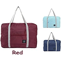 Foldable Waterproof Travel Bag Trustbag Carry Storage Bag with Zipper , Red