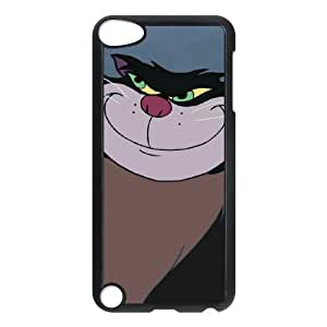 iPod Touch 5 Phone Case Black Cinderella Lucifer the Cat NJH9886225