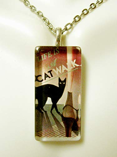 Life is a catwalk cat pendant and chain - - Catwalk Chain