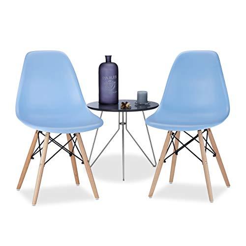 Relaxdays Arvid Juego de 2 diseño Retro de Comedor sillas, sillas ...