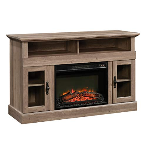 Sauder 422999 Barrister Lane Media Fireplace Entertainment Center, Accommodates up to a 60