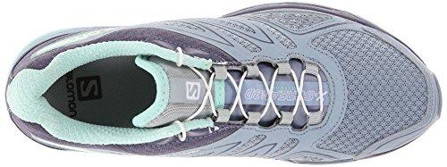 Salomon X-Scream 3D, Chaussures de Running Compétition Femme Grau (Stone Blue/Artist Grey-X/Lucite Gre)