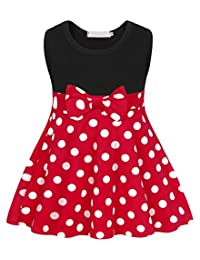 Newmao Toddler Girl Summer Lace Fly Sleeve Bow Splice Dress Clothes Princess Dresses