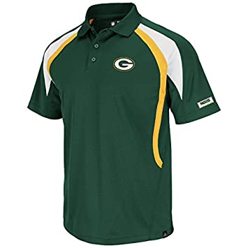 Majestic Athletic Nfl Polo Shirt Green Bay Packers Football