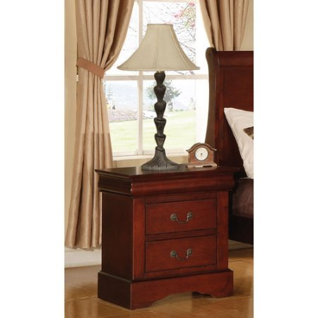 Traditional Style, Louis Phillipe III Nightstand, (Louis Phillipe Style Cherry)