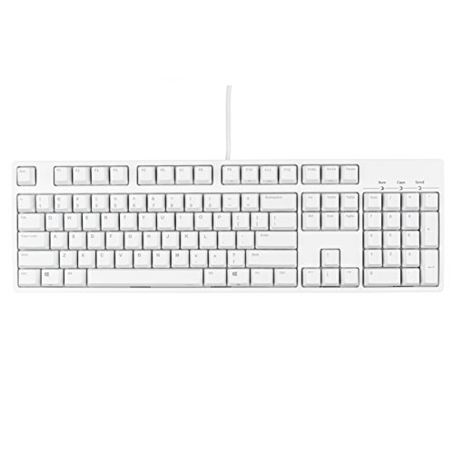 IKBC C104 PBT Full Size Mechanical Gaming Keyboard with Cherry MX Blue Switch, White