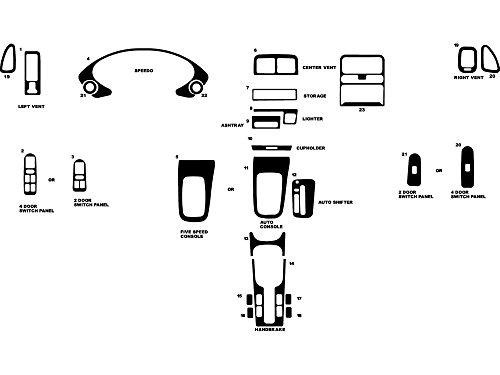 Rdash Dash Kit Decal Trim for Acura Integra 1994-2001 - Carbon Fiber 4D (Silver)