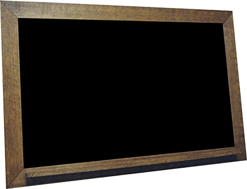 billyBoards 24x36 chalkboard. Vintage walnut frame finish. School style. With chalk tray. Wood composite writing panel- black. 2.5'' wood frame. by billyBoards