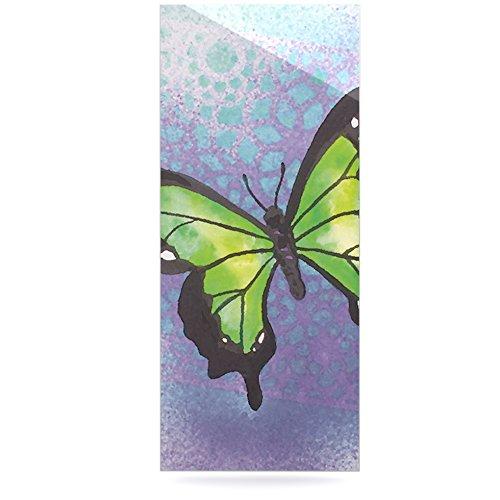 24 x 36 Kess InHouse Padgett Mason Lime Green Flutter Purple Lavender Luxe Rectangle Panel