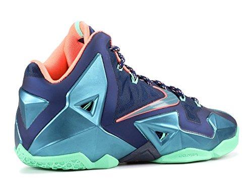 Nike Lebron Xi Miami Vs Akron Mens Skor Tapper Blå / Mineral Blågrön-atomrosa 616175-400