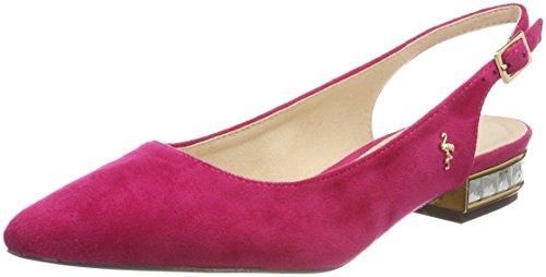 MENBUR CALAMIA, Bailarinas con Tira de Tobillo Para Mujer Pink (Buganvilla)