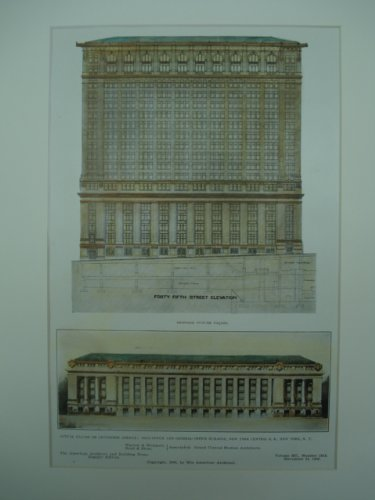 Collectible New York Central Railroad (Post-Office and General-Office Building for the New York Central Railroad , New York, NY)