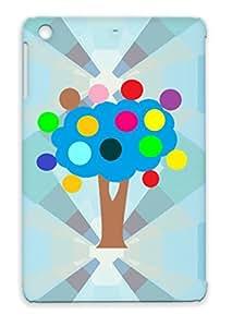 TPU Colors Symbols Tree Circles Shapes Navy For Ipad Mini Multitasking Tree Protective Hard Case
