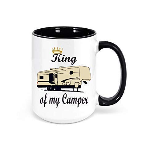 King of my Camper 5th Wheel RV Mug, Camping Coffee Mug, RV Decor