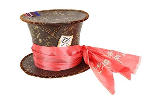 Tweedledee And Tweedledum Costumes (elope Disney's Through the Looking Glass Mad Hatter Tea Party Replica Hat)