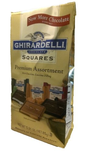 Ghirardelli Premium Assortment Chocolate Squares Bag - 5.91oz