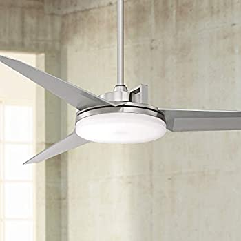 52 cyber modern ceiling fan with light led dimmable - Bedroom ceiling fans with remote control ...