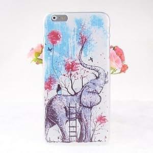 WQQ de dibujos animados patrón de los elefantes de nuevo caso para el iPhone 6 Plus