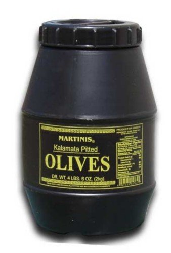 Martinis Select Kalamata Olives Pitted- 2 Kilo (4.6 Lbs) ()