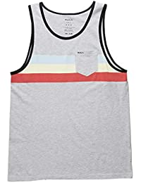 Brennan Pocket Tank Top, Heather Grey, Large