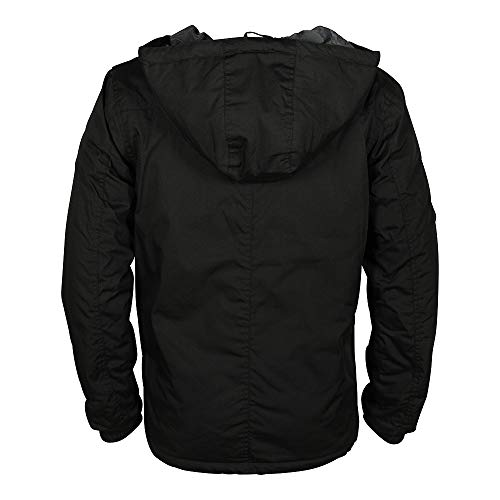 Schwarz Blouson Black Jacket 9000 black solid Spunk Homme q1CRvwqOx