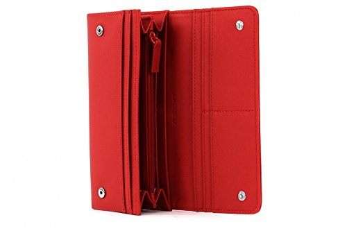 LACOSTE Women's Classic All In One Wallet Flame Scarlet