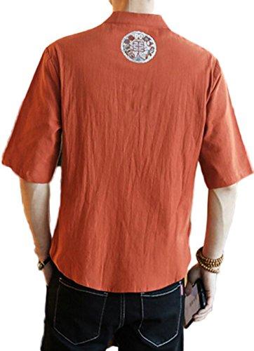 Marrón Breathable Camisas Summer shirts Hombres Para Comfortable T aaq4F0