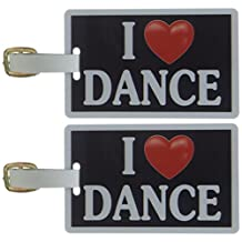 Tag Crazy I Heart Dance Two Pack, Black/White/Red, One Size