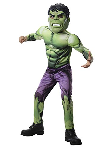 The Hulk Halloween (Rubies Marvel Universe Classic Collection Avengers Assemble Deluxe Incredible Hulk Costume, Child Small)