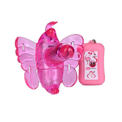 Sexy Diary 38 Speed Remote Control Butterfly Vibrator Masturbator Double Vibration Sextoy - Rose