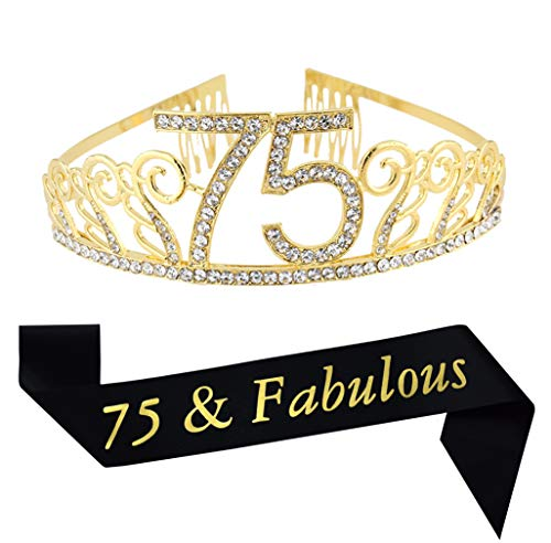 75 & Fabulous Tiara and Sash Set