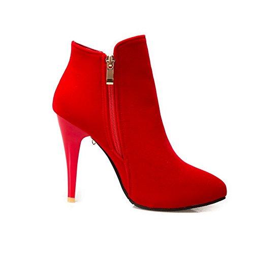 Donna 5 SXC02490 Red Rosso 35 con EU Zeppa Sandali AdeeSu C0qtPP