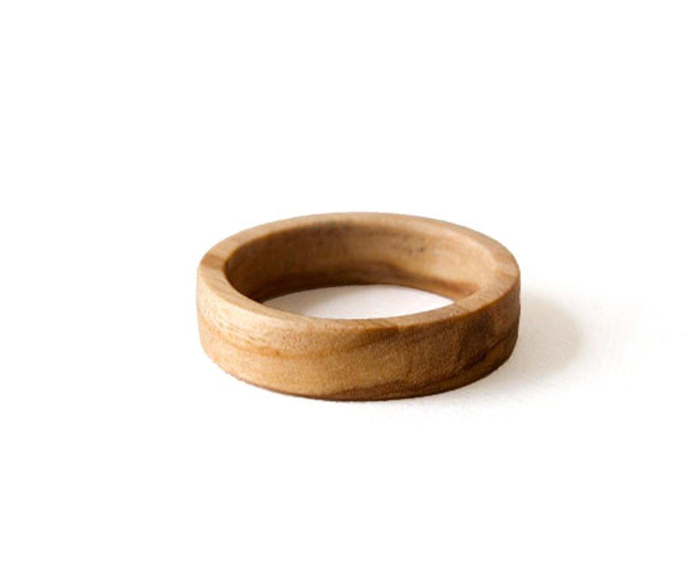 amazoncom olive wood ring olive wood band men ring women wedding band olive ring wood ring wedding men ring wood wedding jewelry olive jewelry - Wood Wedding Rings For Men