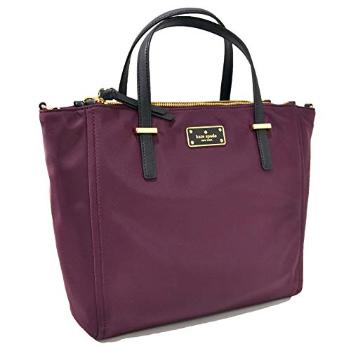 York New Purses Designer - Kate Spade New York Alyse Wilson Road Purse (Deep Plum)