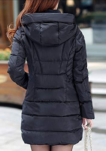 Hooded Lightweight Jacket Black Women's Coat EKU Outwear Down Packable OxRFwPw5