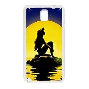 DAZHAHUI Beautiful sea yellow moon Mermaid Cell Phone Case for Samsung Galaxy Note3