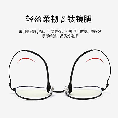 Gb Kk Eyes Anti-Blu-Ray Glasses Round Retro Polygon Flat Mirror Personality Trend