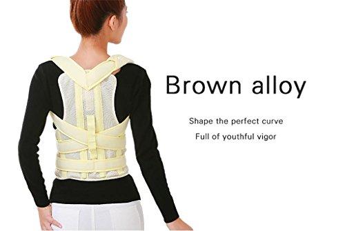 JZLV Adjustable Therapy Back Support Braces Belt Band Posture Shoulder Corrector for Fashion Health , l by JZL (Image #2)